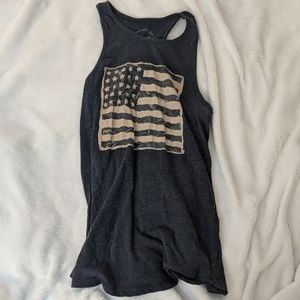 Lucky Brand flag tank- never worn